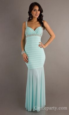 Elegant Long Natural Trumpet Sleeveless Prom Dresses In Stock gparty23447