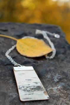 birch bark necklace