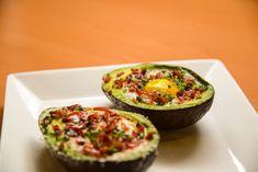 Avocado eggs and bacon