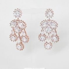 diana earrings, clear/rosegold | cecilie melli