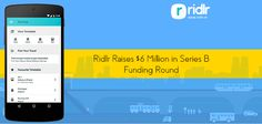 Ridlr Raises $6 Million From Times Internet and Others in a Series B round of investment.