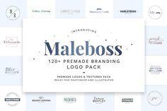 Maleboss Premade Branding Logo Pack by SNIPESCIENTIST on @creativemarket