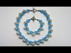 Elegant handmade beaded necklace and bracelet. Beginners jewelry project - YouTube