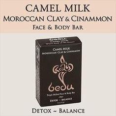 Bedu Naturals Camel Milk Bar Soap Moroccan Clay & Cinnamon (6x4 Oz)