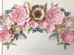 Bohemian inspired Paper Flower Set.
