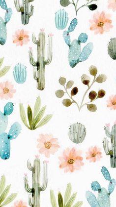 Ideas Cactus Wallpaper Iphone Backgrounds Art Prints For 2019 Art And Illustration, Kaktus Illustration, Watercolor Illustration, Pattern Illustrations, Girl Illustrations, Watercolor Cactus, Watercolor Art, Simple Watercolor, Watercolor Background