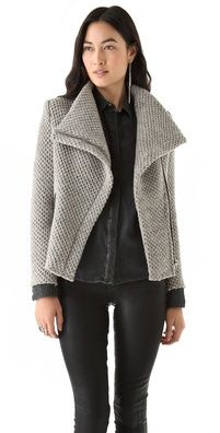 IRO Kristen Honeycomb Moto Jacket...SO bad-ass...