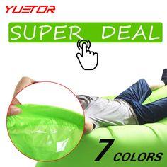 Brand Yuetor fast inflatable lounger air sleep camping sofa portable camping travel outdoor hangout laybag lazy bag  * Boleye podrobnuyu informatsiyu mozhno nayti na URL izobrazheniya.