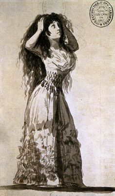 The Duchess of Alba Arranging Her Hair by Francisco José de Goya y Lucientes (Biblioteca Nacional, Madrid) | Grand Ladies | gogm