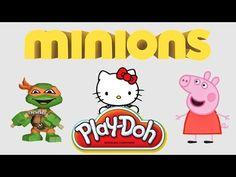 Minions Box Play Doh Pepa Pig SpongeBob Ninja Turtles Hello Kitty blind ...