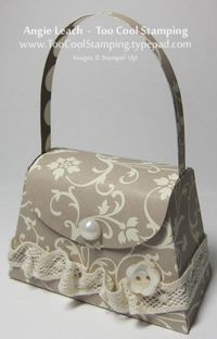 Sunday Showcase: Mocha Morning Petite Purses Collection - Too Cool Stamping
