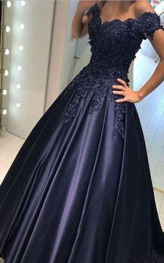 Navy Blue Prom Dresses,Long Prom Dresses,Evening Dresses,Satin Prom #fashiondresses#dresses#borntowear