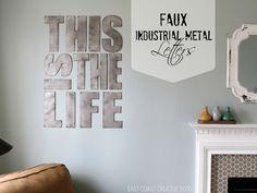 Cool industrial metal letters