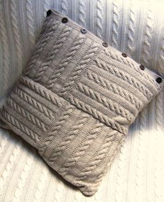 Reasonably priced knitted cushion covers.