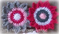 Blog Crafty de Zooty Owl: Crochet girasol Applique