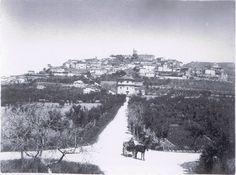 Castiglion Fiorentino. Panorama da Est foto realizzata a fine '800