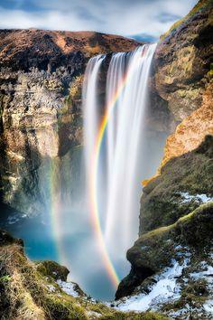Skogafoss Waterfall, Iceland - photo by Eddie Lluisma, via 500px