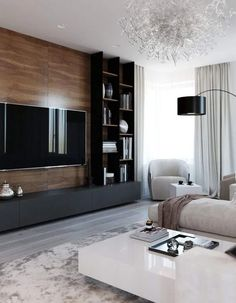 amazing tv wall design ideas for living room decor 14 ~ Beautiful House Lovers Cozy Living Rooms, Living Room Interior, Home Living Room, Living Room Decor, Living Room Ideas Tv Wall, Feature Wall Living Room, Living Room Modern, Living Room Tv Unit Designs, Modern Tv Wall Units