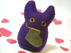 Weird Plush  Purple Monster  Creepy Something  by mintconspiracy, $9.00
