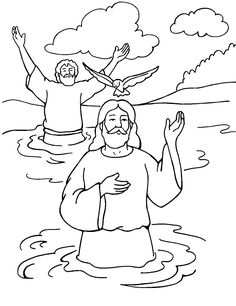 Baptism of Jesus - Color Page Matthew 3:13-17  First Sunday of Epiphany Year A Lectionary