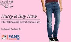 Men's Slim Fitting Jeans - 7 For All Mankind Jeans  #MensJeans #SlimFitJeans #SlimmyJeans #OnlyJeans