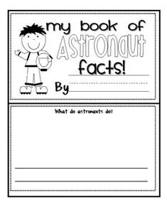 My Book of Astronaut Facts
