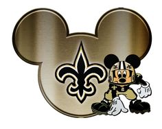 Mickey is a member of the WHO DAT NATION!!  Mickey's not my style, but WHO DAT is.