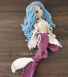 Mia the Mermaid Crochet Amigurumi Doll Pattern PDF Free Crochet Mermaid Tail Pattern for Fish Crochet Mermaid Tail Pattern, Crochet Doll Pattern, Crochet Toys Patterns, Amigurumi Patterns, Baby Knitting Patterns, Doll Patterns, Chat Crochet, Crochet Amigurumi, Amigurumi Doll