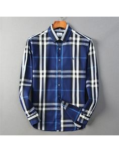 Burberry Shirts For Men, Cotton Shirts For Men, Burberry Men, Chinese New Year Holiday, Casual Shirts, Plaid, Fresh, Sleeves, Clothing