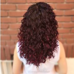 the best organic hair care line out there! Burgundy Curly Hair, Dyed Curly Hair, Dyed Red Hair, Colored Curly Hair, Red Hair Color, Dark Hair, Curly Hair Styles, Natural Hair Styles, Permed Hairstyles