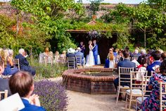 Outdoor Wedding at the Walled Garden Cowdray shot from the back of the ceremony