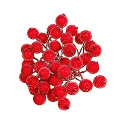 Artificial Berry FlowersChristmas Mini Plastic Multicolor Berry Flowers 40 Flower Head Floral Home Wedding Party Christmas Decor DIY Wreath Scrapbooking Craft Fake Flower Red ** Be sure to check out this awesome product. (This is an affiliate link and I receive a commission for the sales)