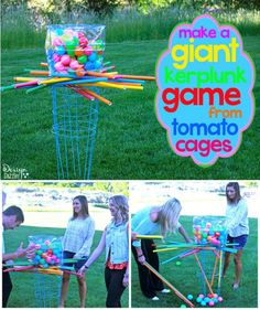 When summer boredom strikes, try these ridiculously fun outdoor summer games. These fun, classic AND new, summer games for kids are perfect activities for summertime fun! Great outdoor play ideas for preschoolers and toddlers. Tomato Cage Crafts, Tomato Cages, Outdoor Games For Kids, Outdoor Fun, Outdoor Toys, Outdoor Privacy, Outdoor Crafts, Indoor Games, Outdoor Decorations