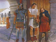 """Romans pay off British spy, northern England, 1st century AD"" ~ Angus McBride"