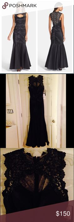 XScape Mermaid Gown 💥Gorgeous black mermaid gown!💥 Lace detail with a (little sparkle) on neck and back! Never worn! It's Stunning! Xscape Dresses