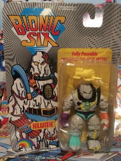 This is Klunk from the Bionic Six line of toys and action figures from LJN. These are part of my personal toy collection.