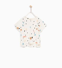 Image 1 of PRINTED CROPPED PLUSH SWEATER from Zara