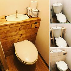 Small Toilet Room, Budget Bathroom, Diy Interior, Vanity, House, Design, Bathroom Remodeling, Restaurants, Hipster Stuff