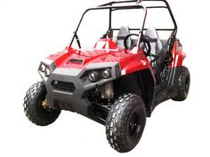 UTV001 150cc Kids UTV Icebear UTVs, Automatic with Reverse, Air and Oil Cooled, Foot Activated 4 Wheel Hydraulic Discs, Protective Screening $2079.00