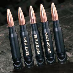 Groomsmen Gift Set of Bullet Bottle Openers