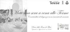 Cena in Bianco | Regolamento 31/08/2017 Metti una sera a cena alle Terme  sarà di scena il colore bianco, sinonimo di eleganza e sobrietà, sia nell'allestimento del tavolo, sia nell'abbigli…