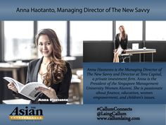 Anna Haotanto, Managing Director of The New Savvy
