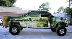 You might be a redneck if.... your truck looks like a bass. :)