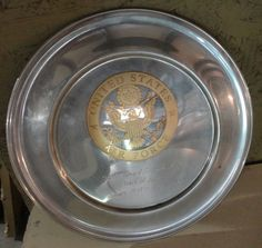 US Air Force Metal Years of Service Plate Colonel Edward F. Smith Gold Eagle. Retired August 1969. Served Korean & Vietnam era.
