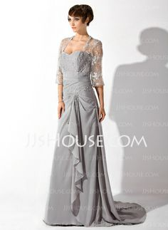 Mother of the Bride Dresses - $157.29 - A-Line/Princess Sweetheart Court Train Chiffon Mother of the Bride Dress With Lace Beading (008006149) http://jjshouse.com/A-Line-Princess-Sweetheart-Court-Train-Chiffon-Mother-Of-The-Bride-Dress-With-Lace-Beading-008006149-g6149