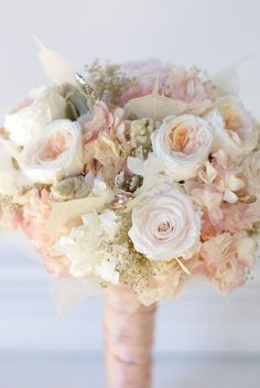 All preserved real flowers to last for years. Cotton candy pink hydrangea, blush…