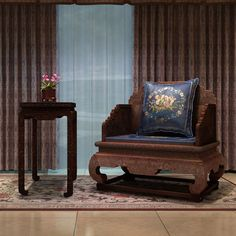 The Imperial Throne Burma Rosewood Solid Wood Armchair