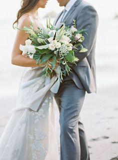 Wedding Sparrow | Coastal Love | Brandi Smyth Photography | All Things Lovely Paper Co. | Costa Rica, Beach, Destination, Film, Bouquet