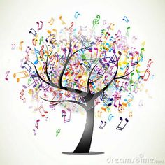Music notes tree.