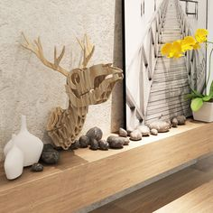 Skeleton animal wood wall art crafts, animal wall art wall decoration,  Guangzhou iWood Crafts Co., Limited on Alibaba.com